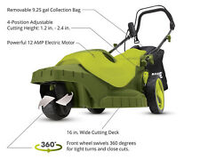 Sun Joe MJ404E-360 Electric Lawn Mower 3-Wheels·16 Inch 12 Amp 360 Degrees Turn