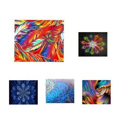 3D HD Print Canvas Oil Painting Self-adhesive Wall Hanging Picture Wall Decor