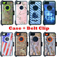 For Apple iPhone 6 6S Camo Case Cover(Clip Holster fit Otterbox Defender Series)