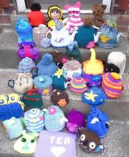 Hand knitted tea cosy cosies crochet Daffodil Bee cottage owl poppy unicorn cat