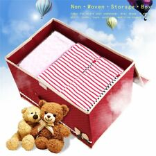 Bowknot Non Woven Storage Box Case Clothes Container Waterproof Organizer Bins~@