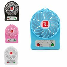 Portable Rechargeable Fan Air Cooler Mini Operated Desk USB +18650 Battery MS