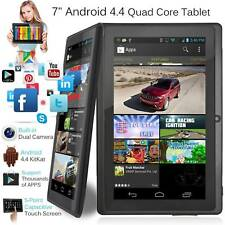 """7"""" Android Tablet 8GB Quad Core Dual Camera Bluetooth Touch Screen Tablet LOT MS"""
