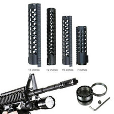 "7"" 10"" 12"" 15"" inch Clamping KeyMod Handguard Rail Mount Free Float System Black"