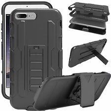 Shockproof Stand Case For Apple iPhone 7/6/6s Plus Armor Belt Clip Holster Cover