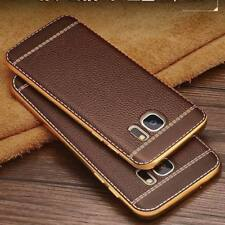 For Samsung Galaxy S8 S9 Plus Luxury Ultra-thin PU Leather Back Skin Case Cover