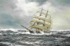 Modern Art Wall HD print oil painting Ship Sailing Landscape Home Decor Canvas