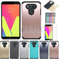 Slim Armor Shockproof Hybrid Case Heavy Duty Rubber Hard Phone Cover For LG V20