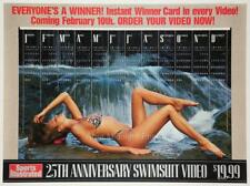Sports Illustrated 25th Anniversary Swimsuit calendar poster 1990 25.5x34