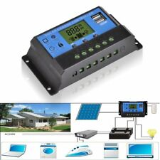 12V/24V Solar Panel Charger Controller Battery Regulator USB LCD Controller QU