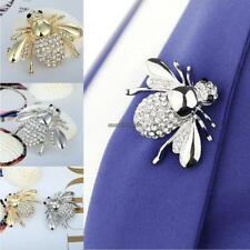 Women Brooches Rhinestone Animal Bee Brooch Fashion Alloy Brooches CLSV