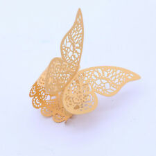 5pcs Paper Napkin Ring Exquisite 3D Butterfly Decorative Napkin Ring for Wedding