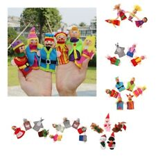 4/5/6 Pieces Family Finger Puppets Plush Doll Educational Cartoon Soft Plush Toy