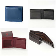 DV Men Leather Wallet With Coin Purse And Inside Secret Zip Compartment