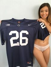 Saquon Barkley authentic Nike blue 2016 Penn State stitched jersey with patches