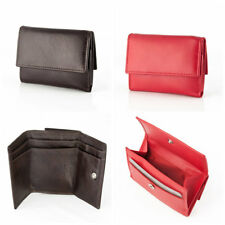 dv Small Leather Wallet With Coin Purse And Double Closure Credit Card Holder
