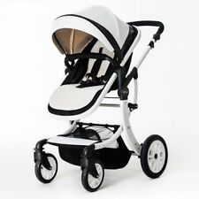 Foldable Baby Pushchair Baby Stroller PU Jogger Carriage Infant Travel System