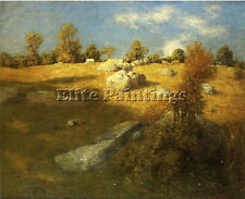 WEIR JULIAN ALDEN UPLAND PASTURE ARTIST PAINTING OIL CANVAS REPRO WALL ART DECO
