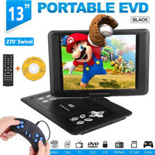 Portable 13'' TV DVD CD Player Game 270° Screen USB SD MS with Remote Control