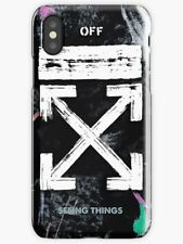 OFF WHITE Case, OFF WHITE Galaxy Brushed iPhone 6 7 S 6 7 8 Plus X Case