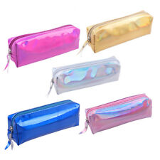 Holographic Pencil Bag Case Stationery Storage Organizer Zipper Makeup Cosmetic