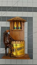 Vintage Taxidermy Frog Drinking Negra Modelo and Corona Beer