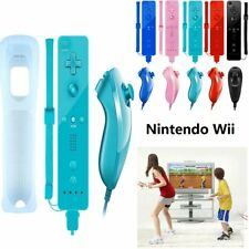 Remote and Nunchuck Controller With Silicone Case Wrist Strap Home For Nintendo