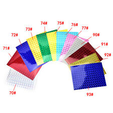 4X 10cm X 20cm Holographic Adhesive Film Flash Tape For Lure Making Fly Tying&&
