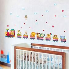 [ZOOYOO] cartoon animal train wall stickers for kids rooms nursery baby children