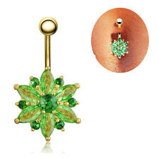 Delicate Gem Crystal Rhinestone Body Piercing Belly Button Navel Ring Jewelry