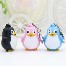 Creative Penguin Shape LED Toys with Sound Mini Torch Flashlight  Kids Toy Gift
