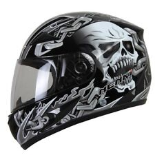 Motorcycle Full Face Helmet Motorbike Street Motor Riding Racing Skull Decals