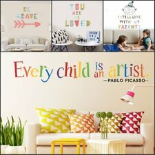 Creative Quote Decor Removable Wall Sticker Home Bedroom Backdrop Art Decal DIY