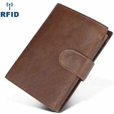 Real Leather Credit Card Holder Money Cash Wallet Clip RFID Blocking Purse