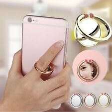 Universal Mirror 360 Degree Rotation Mobile Phone Finger Holder Ring Stand LO