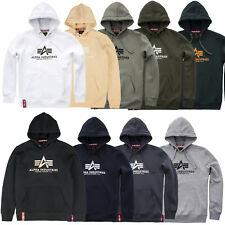 Alpha Industries Men's Hoody Basic Hoodie Pullover Hood S M L XL XXL 3XL 4XL