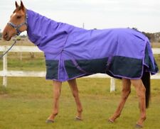 RUMANI 1200D 220G Fill Winter Waterproof Breathable TURNOUT HORSE RUG & NECK SET
