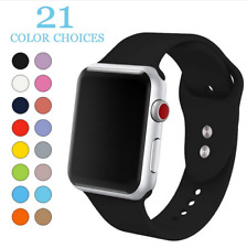For Replacement Silicone Band Apple Watch iWatch Sports Series 1/2/3/4 38 / 42mm