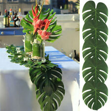 12pcs Hawaiian Tropical Palm Leaves Hawaiian Luau Party Jungle Beach Theme Decor