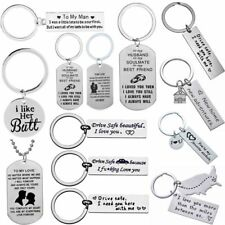 Couple Lover Gift Husband Wife Keyring Boyfriend Girlfriend Valentines Keychains