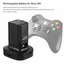 Charging Station Charger Dock+2X 4800mAh Rechargeable Battery for Xbox 3TO