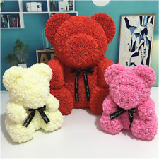 New Valentines Day Gift Party Decoration Artificial Flowers Rose Bear Multicolor