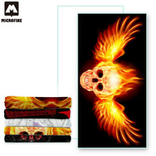 Microfiber Fiber Bath Beach Absorbent Drying Washcloth Shower Towel Sports Skull