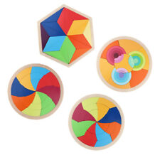 Wooden Puzzle Tangram Jigsaw Brain Teasers Toy Educational Gift For Kids