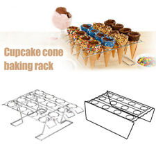 Cupcake Cone Baking Decorating Rack 12/16 Cake Cone Holder Stand Pastry Tray