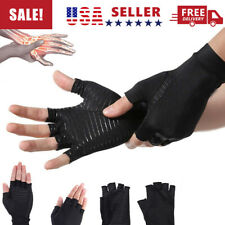 Arthritis Copper-Fit Compression Gloves Hand Carpal Support Joint Pain Relief US