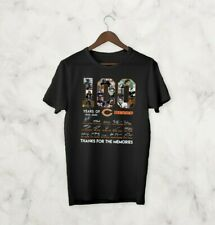 100 years anniversary of CHICAGO BEARS T-Shirt Signature For Fan Footbalt Black
