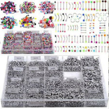 105pc Bulk lots Body Piercing Eyebrow Jewelry Belly Tongue Bar Ring Wholesale
