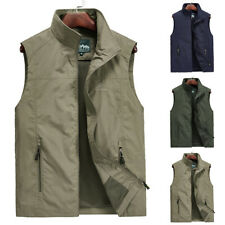 Mens Tops Vest Outdoor Tops Quick Dry Fashion Hiking Plus Size Work Vest