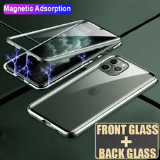360° Magnetic Adsorption Case for iPhone 11 Pro Max XR X XS Tempered Glass Cover